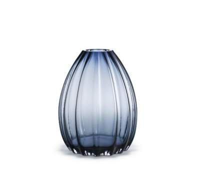 Wazon szklany do kwiatów 2LIPS Holmegaard - niebieski